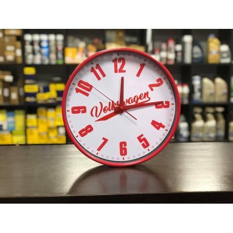 Zegar ścienny Volkswagen retro czerwony