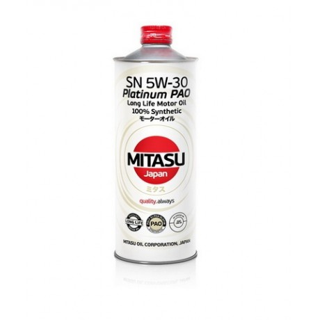 MJ-111 MITASU PLATINUM PAO SN 5W-30 100% SYNTHETIC 1L