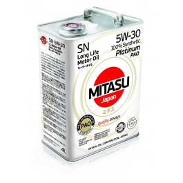 MJ-111 MITASU PLATINUM PAO SN 5W-30 100% SYNTHETIC 4L