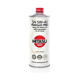 MJ-112 MITASU PLATINUM PAO SN 5W-40 100% SYNTHETIC 1L