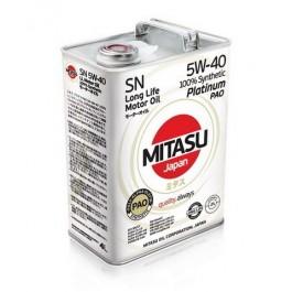 MJ-112 MITASU PLATINUM PAO SN 5W-40 100% SYNTHETIC 4L