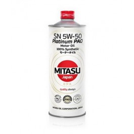MJ-113 MITASU PLATINUM PAO SN 5W-50 100% SYNTHETIC 1L