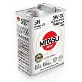 MJ-113 MITASU PLATINUM PAO SN 5W-50 100% SYNTHETIC 4L