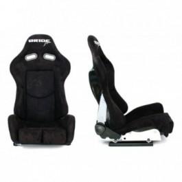 Fotel BRIDE K608 zamsz black
