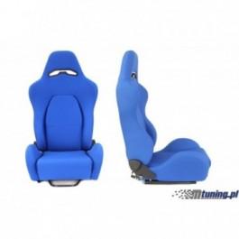 Fotel sportowy DRAGO BLUE materiał