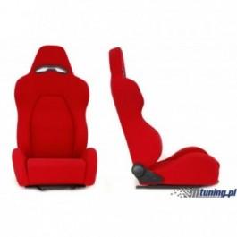 Fotel sportowy DRAGO RED materiał