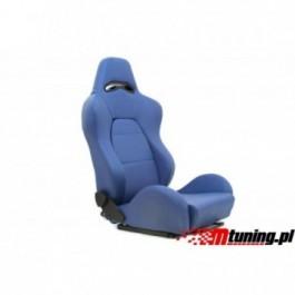 Fotel sportowy DRAGO Skóra Blue