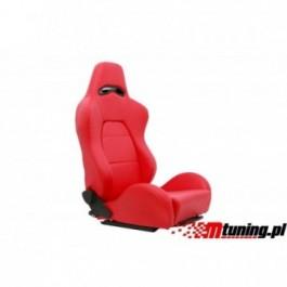 Fotel sportowy DRAGO Skóra Red