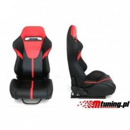 Fotel sportowy R-LOOK II Skóra Black - Red