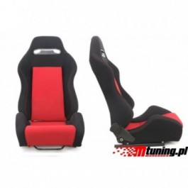 Fotel sportowy R-LOOK Materiał Black - Red