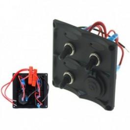 Panel przełączników 12V SPST/ON-OFFx3, 1xGZ, 2B 15A IP68