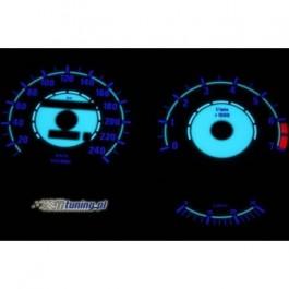 Podświetlane tarcze indiglo BMW E34 88-94 240km/h