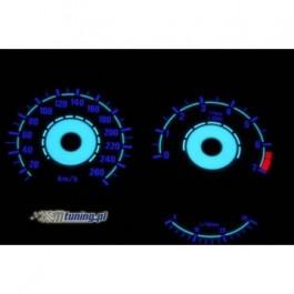 Podświetlane tarcze indiglo BMW E34 88-94 260km/h