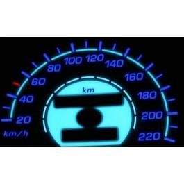 Podświetlane tarcze indiglo OPEL ASTRA 91-98 220km/h